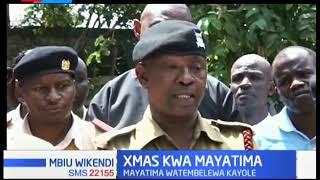 Mayatima wa Kayole watembelewa na kuzawadiwa na maafisa wa polisi