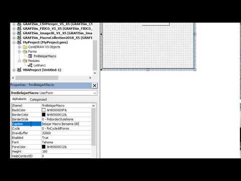 CorelDRAW 2018 Move All Object To Page Macro FREE - смотреть