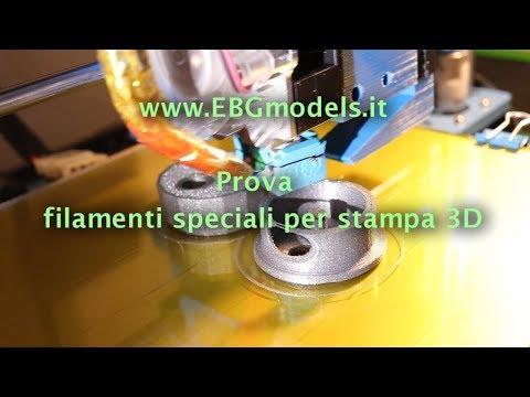 Prova dei filamenti speciali per stampanti 3D prodotti della Tomàs3D