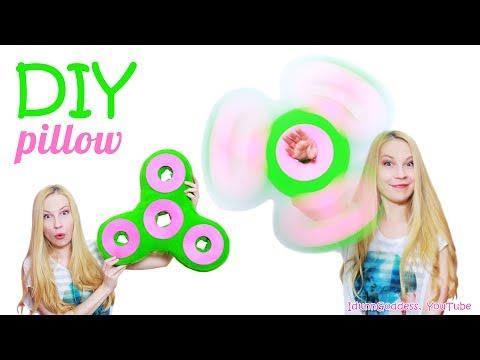 How To Make Fidget Spinner Pillow – DIY Giant Fidget Spinner Pillow (No Sew)