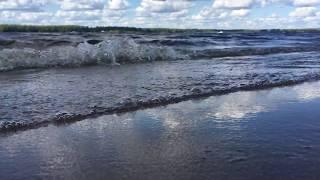 Шум волны. Река Волга. Как море.