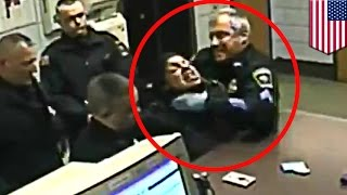Police brutality? Cops use choke hold on video in PCP woman arrest, sued for $1 million