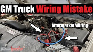 Don't make this WIRING MISTAKE on newer GM Trucks RVC (Regulated Voltage Control) | AnthonyJ350