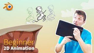 How to Create 2D Animations - Beginner Blender Tutorial
