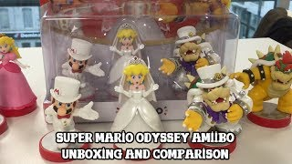[Amiibo] Super Mario Odyssey - Wedding Line - Unboxing and comparison