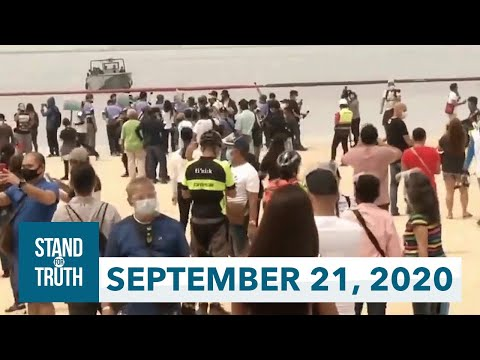[GMA]  Stand for Truth: (September 21, 2020) Dolomite sand sa Manila Bay, dinumog ng publiko!