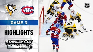 NHL Highlights | Penguins @ Canadiens, GM3 - Aug. 5, 2020