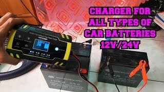 CAR AND TRUCK BATTERY CHARGER - 12V AND 24V BATTERY SYSTEM CHARGER