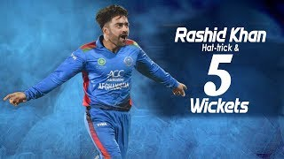 🔥Rashid Khans Amazing Hat-trick & Five Wicket Haul |3rd T20 |Afghanistan Vs Ireland In India 2019