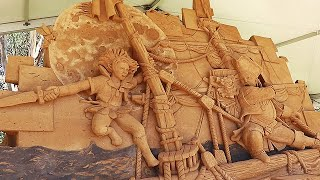 Peter Pan Sand Sculptures Exhibition at Boneo Maze