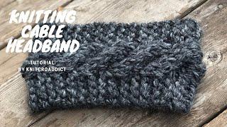 Knitting : Cable Headband Tutorial