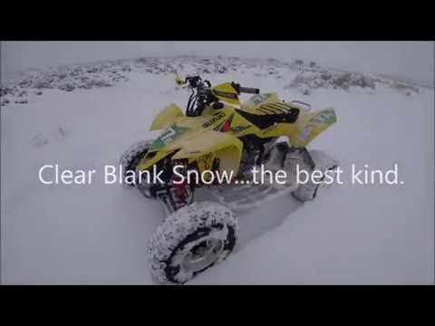 Suzuki LT-R450 Quadracer – Maxxis RAZR Snow Tire Review!