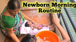 Newborn Morning Routine || Newborn Traditional Bath || Daily Routine Tamil || Tamil Vlogs