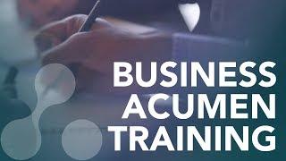 Award-winning business acumen training