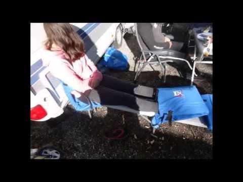beheizbarer Campingstuhl und Sitzauflage
