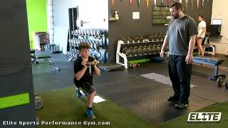 Youth Athlete Mastering Reverse Lunge