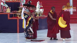 His Holiness the 17'th Karmapa performs the Gutor Mahākāla Cham (The Great Mahākāla Dharma Prote