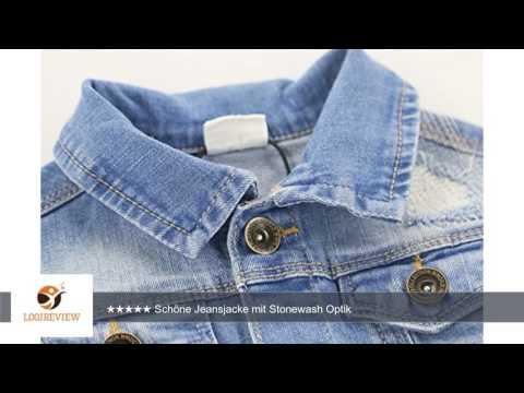 Schoenleben Kinder Jungen Mädchen Jacke Jeansjacke Steppjacke Übergangsjacke |