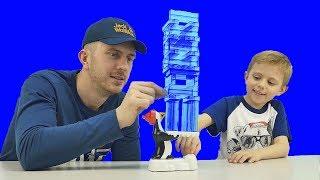 Весёлое видео для детей ДРОЖАЩИЙ ПИНГВИН Shiver - Развивающие и смешные игры для детей с Даником