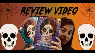 day of the dead face glitter tattoo review