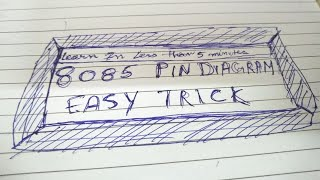 Best trick to learn 8085 pin diagram.