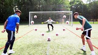 INSANE THREEWAY FOOTBALL CHALLENGES!! Best Striker on YouTube?