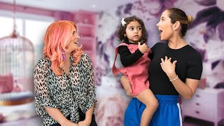 Elle and Alaïa's Enchanted Bedroom and Rainbow Playroom Makeover | OMG We're Coming Over!