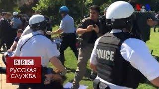 Сторонники и противники Эрдогана подрались в Вашингтоне
