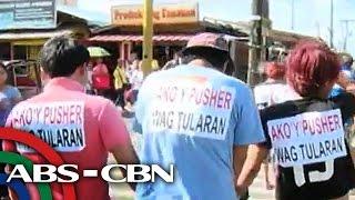 TV Patrol: 7 drug pusher umano, pinag-'walk of shame' sa Tanauan