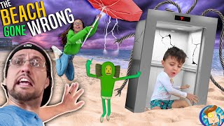 Don't use the ELEVATOR @ the BEACH House!  (FV Family Gone Wrong w/ Real Life No No Square)