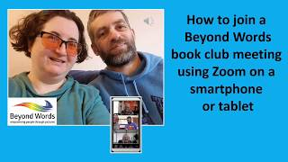 Joining an online Beyond Words book club meeting with your smartphone or tablet