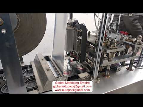Cup Filling and Sealing Machine With Auto Cup Loader