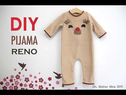 DIY Disfraz casero tipo pijama de RENO para bebé