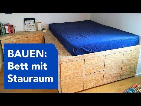 Bauen - Podest-Bett mit viel Stauraum