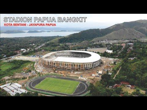 Megahnya Stadion Papua Bangkit di Kota Sentani Jayapura Papua untuk PON 2020