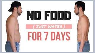 Guy Tries 7 DAY WATER FAST DIET💧 No Food for A Week Results