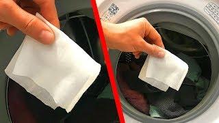 Lege Feuchttücher in die Waschmaschine und sieh, was passiert