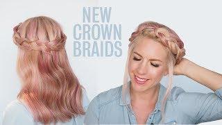 A New Crown Braid Tutorial & 2 Ways To Wear It