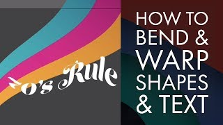 How to bend & warp shapes & text in Adobe Illustrator CC - Adobe Illustrator CC 2018 [24/39]