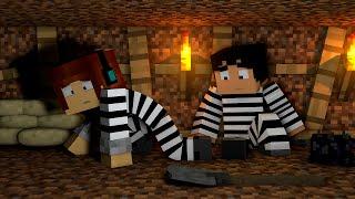 Minecraft : CAVAMOS NOSSA FUGA  !! - ( Polícia e Ladrão)