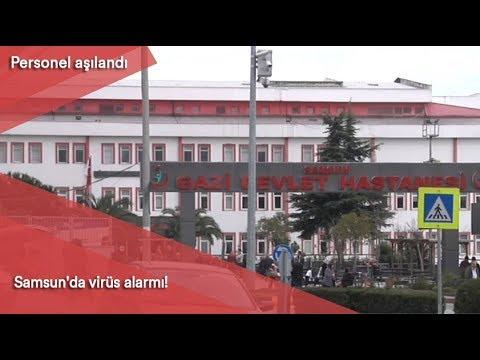 Samsun'da virüs alarmı! Personel aşılandı