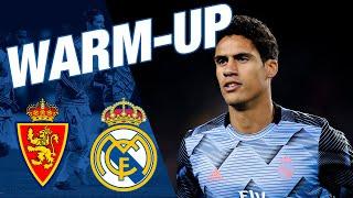 Real Zaragoza vs Real Madrid | Watch our warm-up at La Romareda!