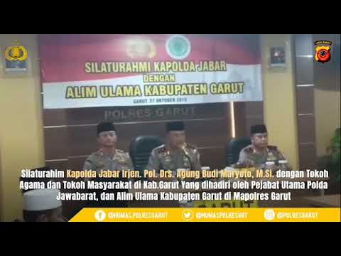 Silaturahim Kapolda Jabar Dengan Alim Ulama Kabupaten Garut