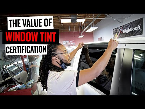 The Value Of Certified Window Tint Installation! - YouTube