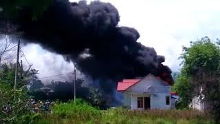 VIDEO - Detik-detik Kebakaran Gudang Minyak Ateuk Jawo