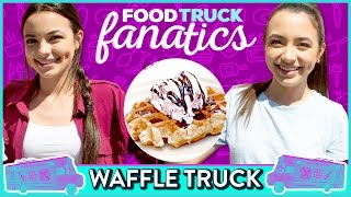 ICE CREAM WAFFLE CHALLENGE | Food Truck Fanatics w/ the Merrell Twins