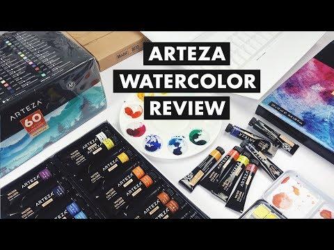 New Watercolor Art Supplies From Arteza! | Swatching + Demo Art
