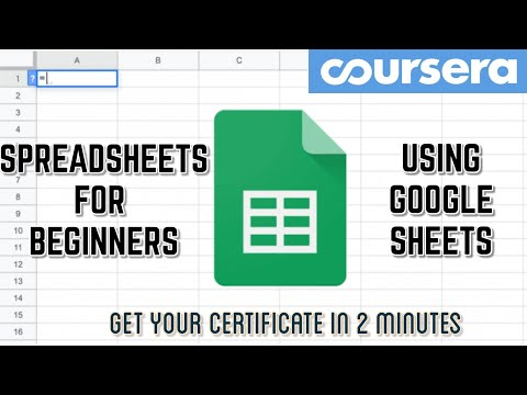 Get Coursera Certificate in 2 Minutes l Spreadsheets for Beginners ...