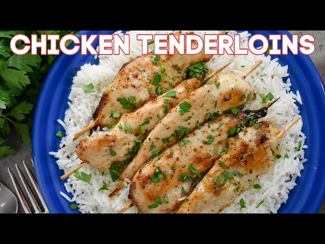 Marinated Baked Chicken Tenderloins (VIDEO)