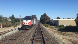 Caltrain HD 60fps: Gallery Car 4022 Cab Ride on Baby Bullet Train 329 (Tamien - San Francisco)